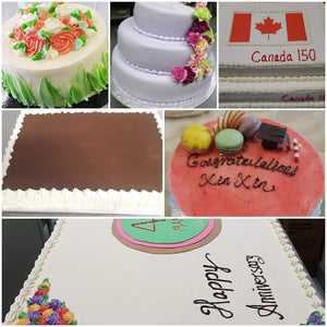 Custom Slab Cakes( Vanilla Buttercream Appearance)