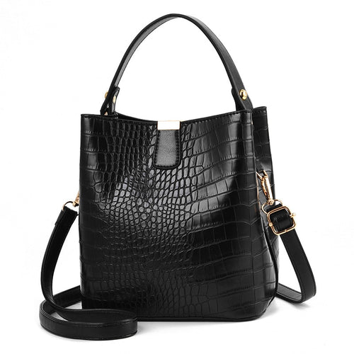 Retro Alligator/Crocodile Pattern  Bucket Bag for Women