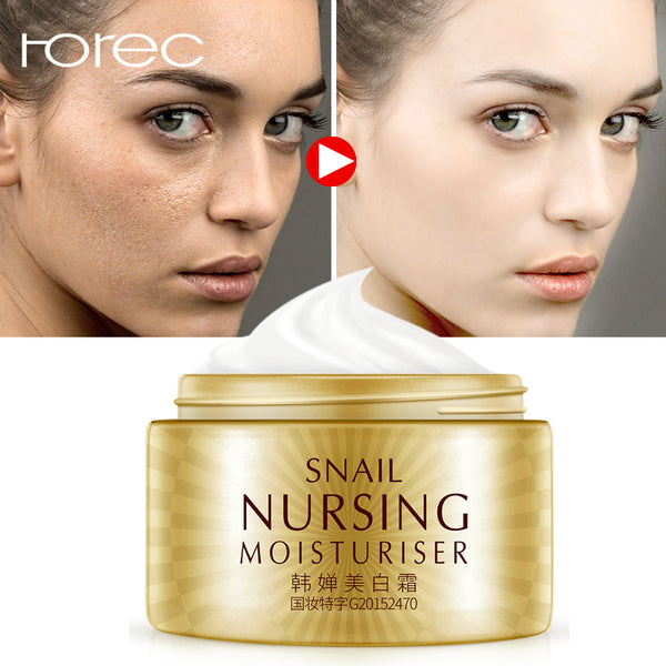 ROREC Snails Serum Moisturizign Day Cream Form Acne Treatment For Face Anti Wrinkle Anti Aging For Face Fine Lines  Cosmetics