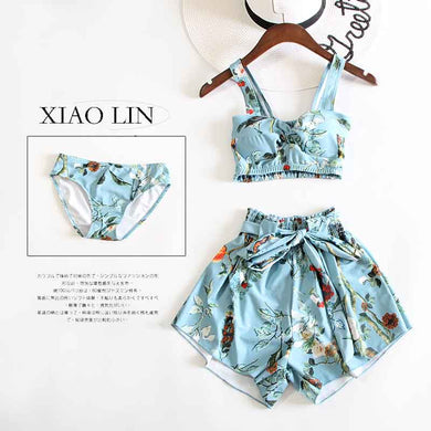 Women Vintage swimsuit Set
