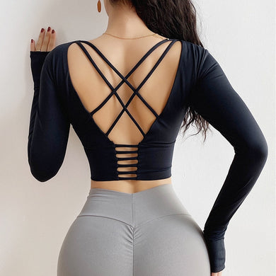 Back Cross Tight Sport Top