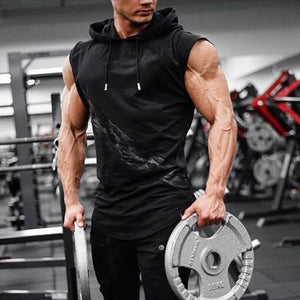 Muscle Guys Sleeveless Hoodies