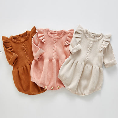 Cotton Woolen Baby Rompers