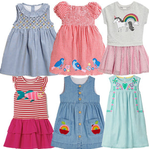 baby girls cartoon Flower embroidery style dress