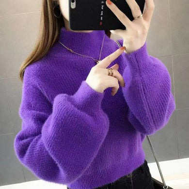 Woolen Girls Mohair Autumn Pullover