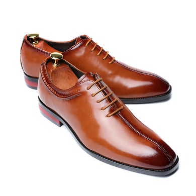 Men's Flat Party Leather Shoes