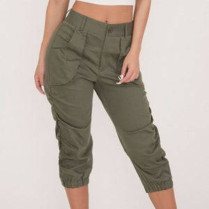 Women Casual Cropped Trousers