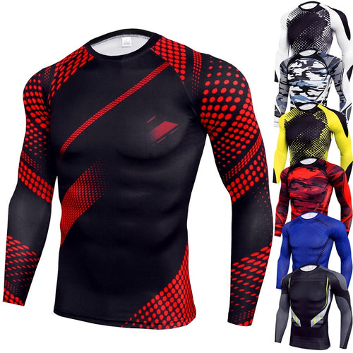 Men Running Compression Shirt