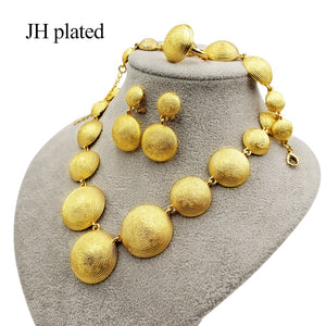 24K Gold color jewelry sets for women