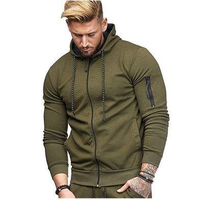 'Men's Fitness Sports Cardigan Hoodie