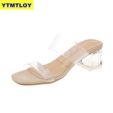 Women Summer Transparent Heels