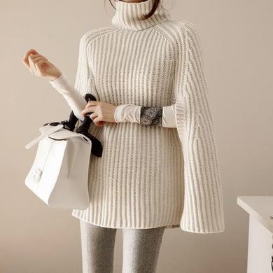 Fashion Cloak Winter Knitted Sweater