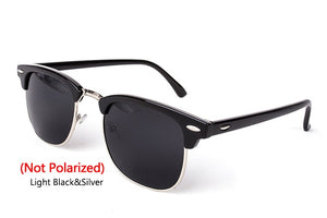 Polarized Semi-Rimless Sunglasses