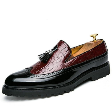 Office Casual Breathable Leather Loafers For Men