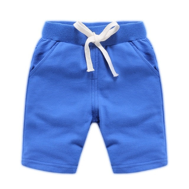 Children Summer Shorts Cotton Solid Elastic Waist Shorts For Boys Girls Brand Sports Pants Toddler Panties Kids Beach Clothing