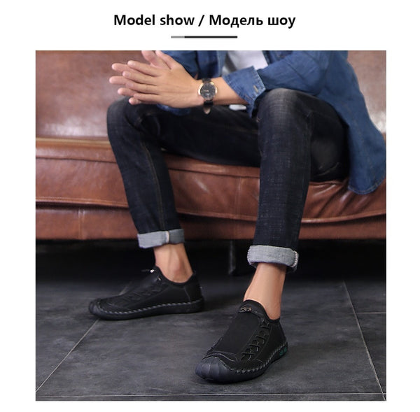New Quality Split Comfortable Leather Loafers for Men