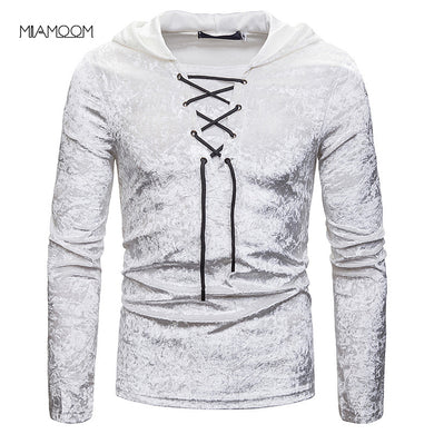 Men's Loose-fitting Hooded Long-sleeved T-shirt