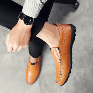 Breathable Genuine Leather Italian Moccasins