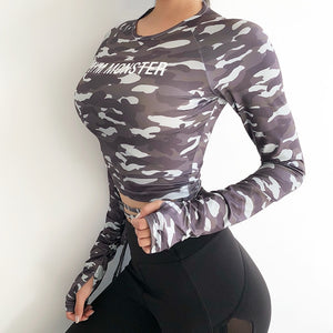 Camouflage Yoga Gym Top
