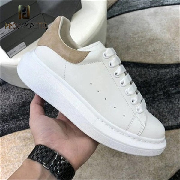 White Sneakers Women Genuine Leather Casual