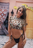 Women Push-up Padded Leopard Swimsuit