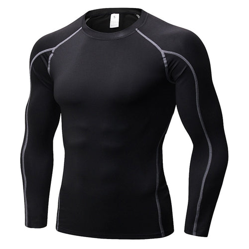 Gym Running Shirt Men Long Sleeve