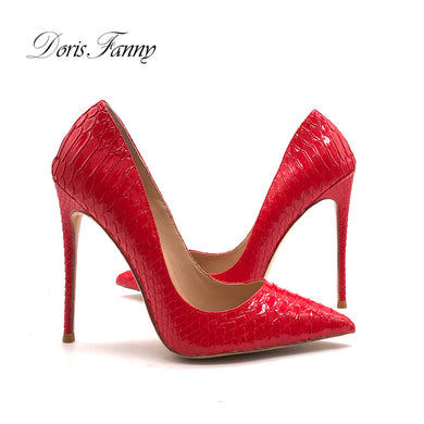 women Red High Heel shoes