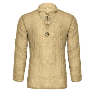 Men Casual Linen Pullover Shirt