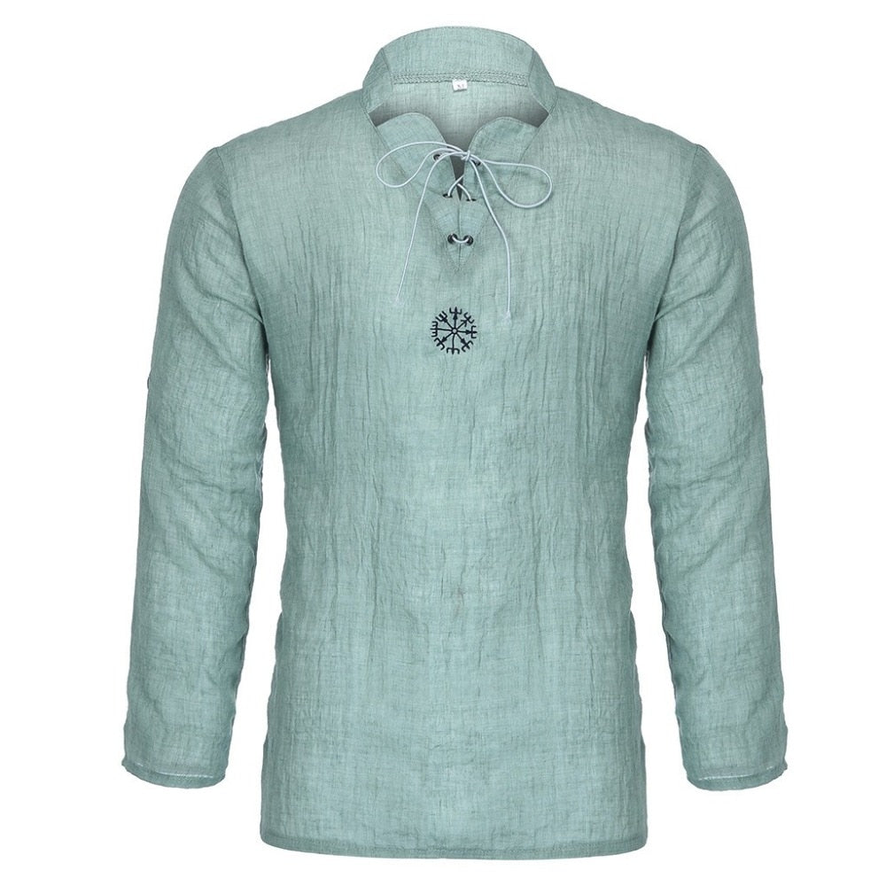 New Spring Men's Casual Linen Pullover Shirt