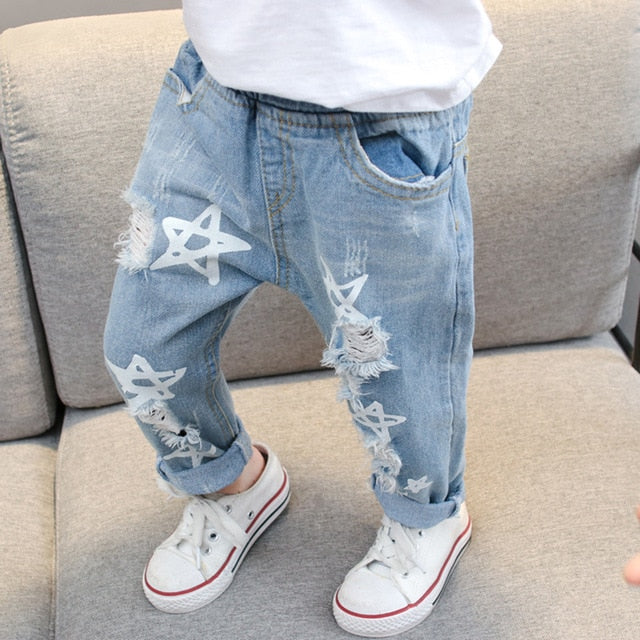Baby Girls Star Print Jeans