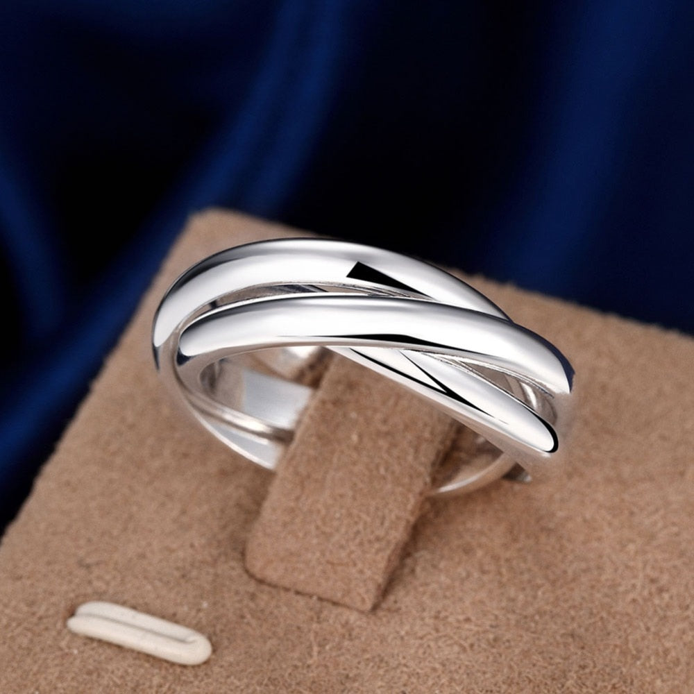 Three layer Silver Ring