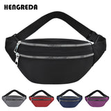 Women Waist Bag Men Fanny Pack Female Banana Bag Hip Bum Money Pouch Ladies Fashion Travel Shoulder Purse Belly Pocket