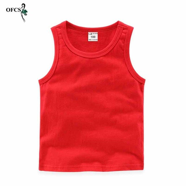 2-12 T Kids Baby Vests T-shirts Summer Boys Vest Top Outfit Kid Boy Girl Solid Tops Children Clothes Cotton Tees Black Playsuits
