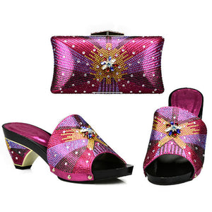 Women matching Shoes and Bags Set