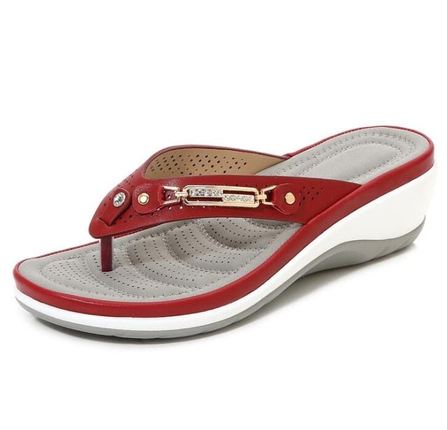 Wedge beach women slippers