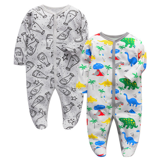 Newborn Babies Pajamas for boys &girls 2 Pack Long Sleeve