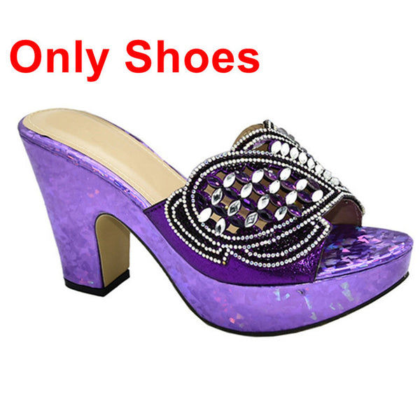 Women's Italian Shoes and Bag Set High Heel