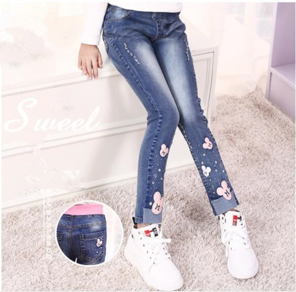 autumn girls jeans