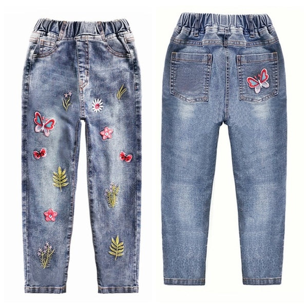 Girls Jeans Spring Cotton Stretchy