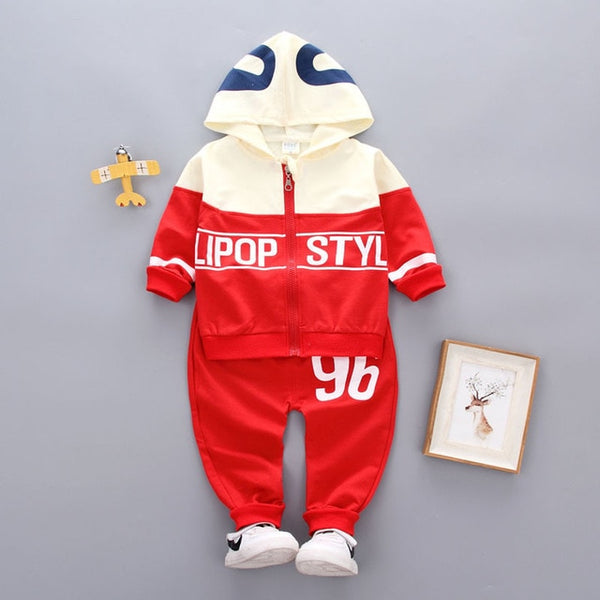 New Spring Autumn New Pattern Printing Children Tracksuit Baby Boys Girls Ziper Hoodies Pants 2 Pcs/sets Infant Fashion Twinset