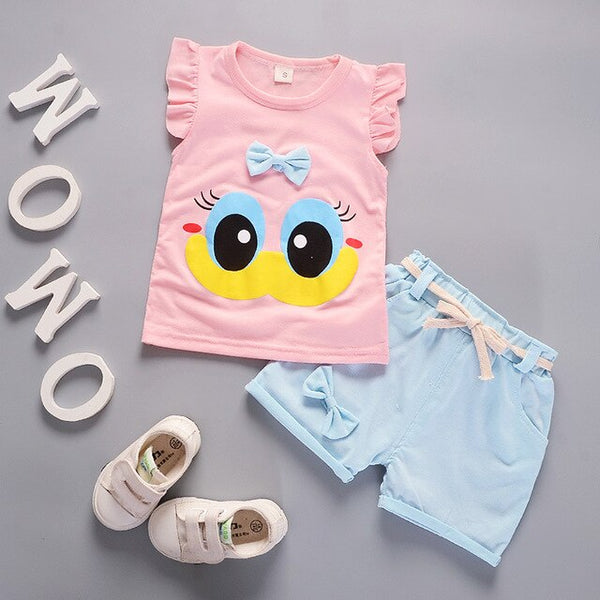 Girls Floral T-shirt Clothing Sets