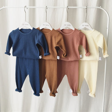 Boys & Girls Autumn/Winter Ribbed Set
