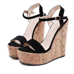 Platform Wedges Ankle Strap