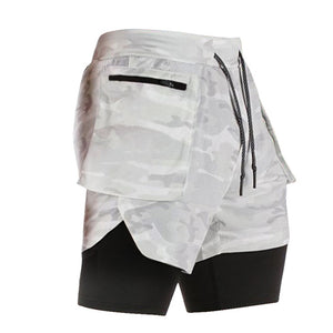 Phone-Pocket Running Shorts For Men