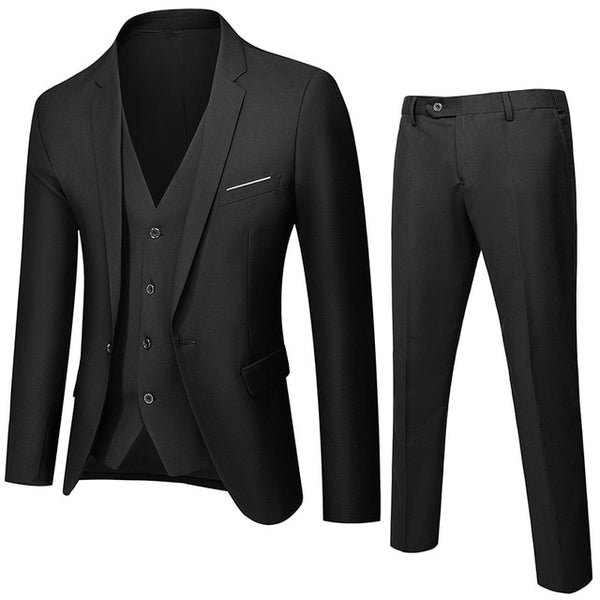 TIAN QIONG Men Suits 2020 Fahion Suits Men Wedding Suit 3 Pieces Suit (Jacket+Pants+Vest)  Mens Slim Fit Blazer Multi-color