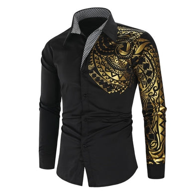 Luxury Gold Black Shirt