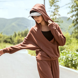 Women V-neck Yoga Coat