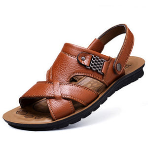 Classic Genuine Leather Summer Sandals for Men