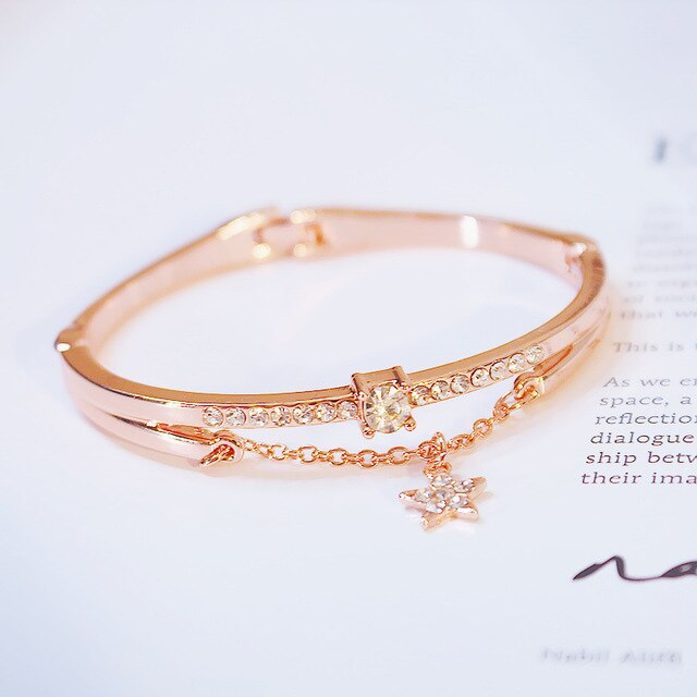 Women  Rose Gold Stainless Steel Bracelets