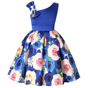 Kids Flower Stripe Dresses for Girls